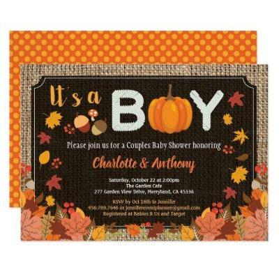 Fall it's a boy pumpkin