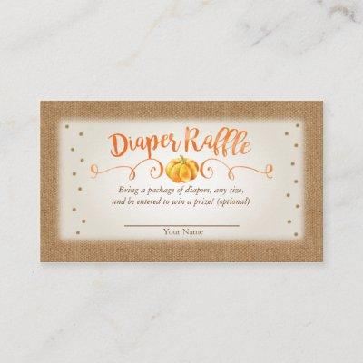 Fall Pumpkin Baby Shower Diaper Raffle Invitations
