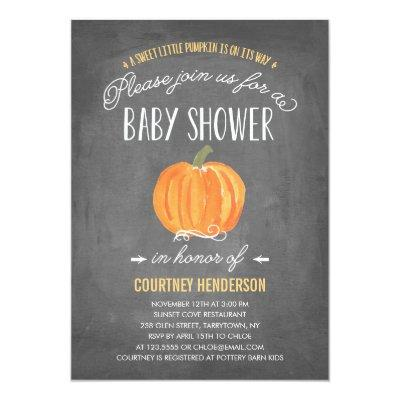 Fall Pumpkin | Baby Shower Invitations