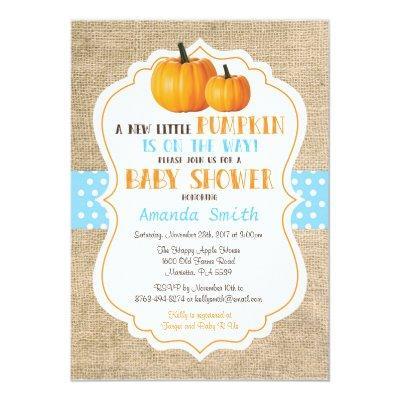Fall Pumpkin Girl  Invitations