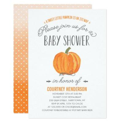 Fall Pumpkin Ombre | Invitations