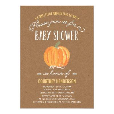 Fall Pumpkin Rustic | Invitations