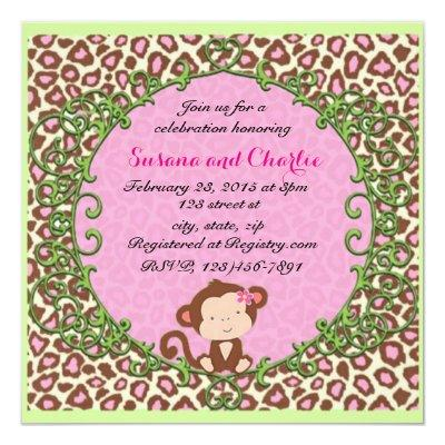 Fancy Monkey Invitation