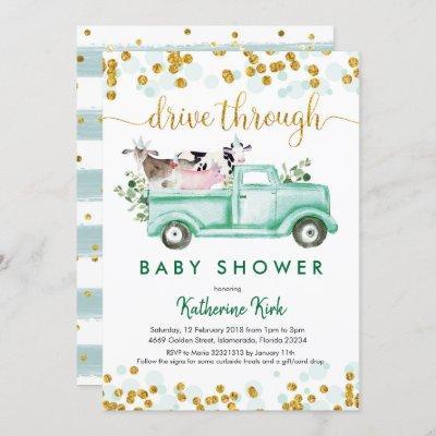 Farm Drive Through Baby Shower Invitation