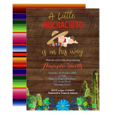 Fiesta Baby Muchacho Baby Shower Invitations