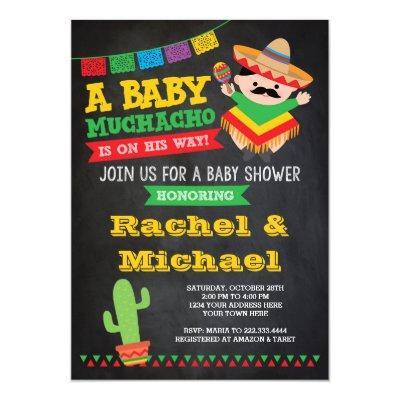 Fiesta , Baby Muchacho Invitations