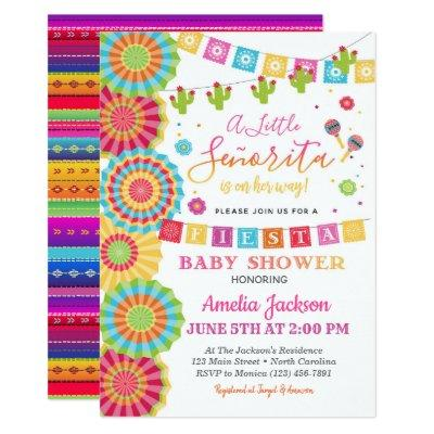 Fiesta Baby Shower Invitation Girl Fiesta Shower