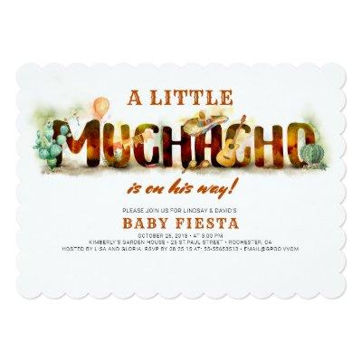 Fiesta Baby Shower Invitation Mexican Fun