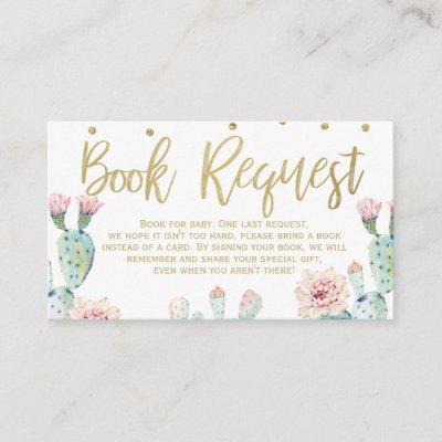 Fiesta Gold Calligraphy Book request Card Insert