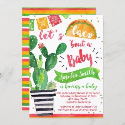 Fiesta Taco Baby Shower Invitation