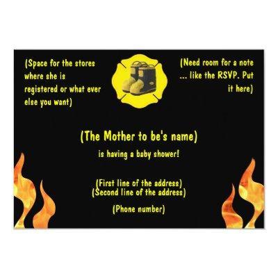 Firefighter Baby Shower Invitation