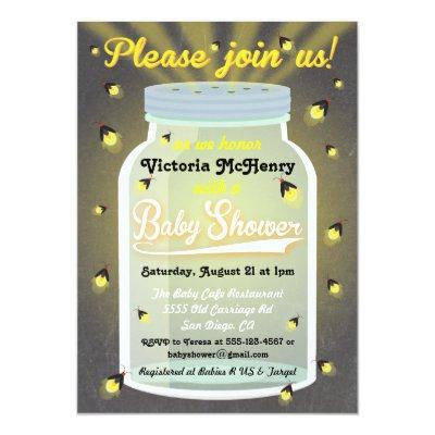 Firefly Chalkboard Mason Jar Invites