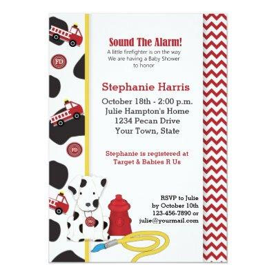 Fireman Baby Shower Invitation