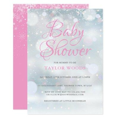 First Snowflakes Baby Shower / Sprinkle / Couples Invitation