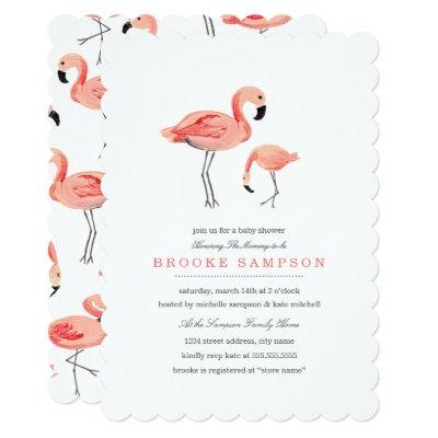 Flamingo Baby Shower Invitations
