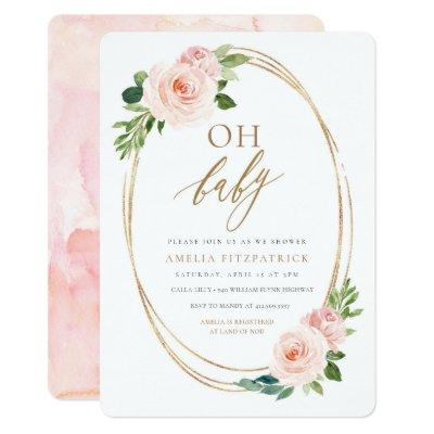 Floral Baby Shower Invitations Girl