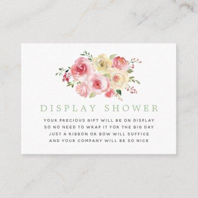 Floral Blush and Sage Baby Shower Display Shower Enclosure Invitations