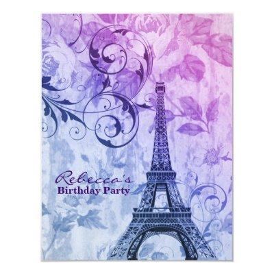 Eiffel Tower Baby Shower Invitations