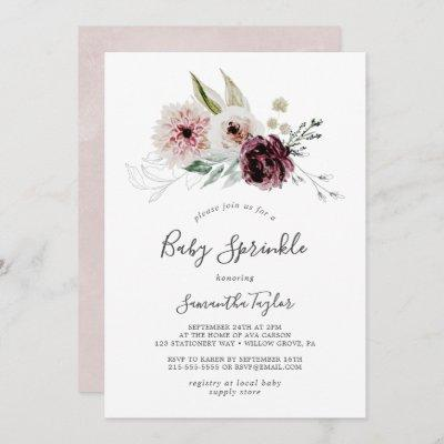 Floral Romance Baby Sprinkle Invitation