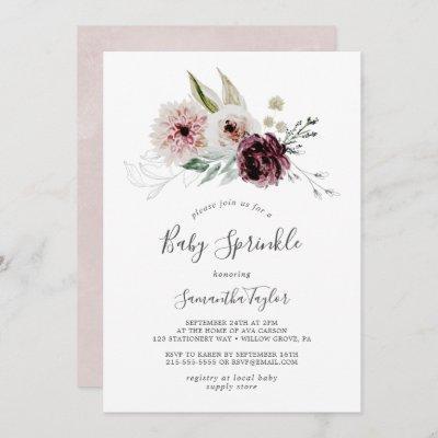 Floral Romance Baby Sprinkle Invitation