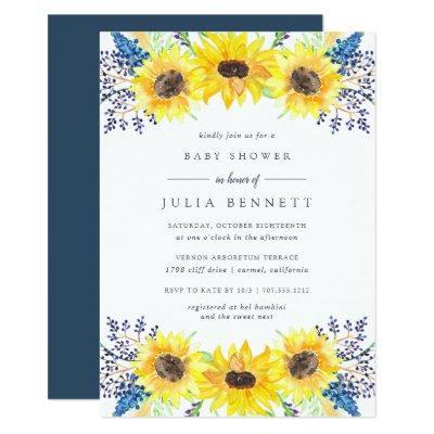 Flowerfields Baby Shower Invitation