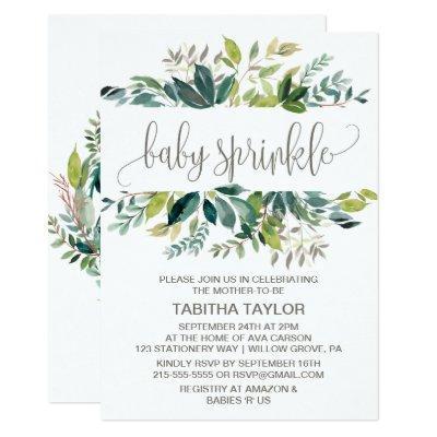 Foliage Baby Sprinkle Invitation