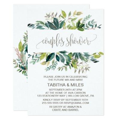 Foliage Couples Shower Invitations