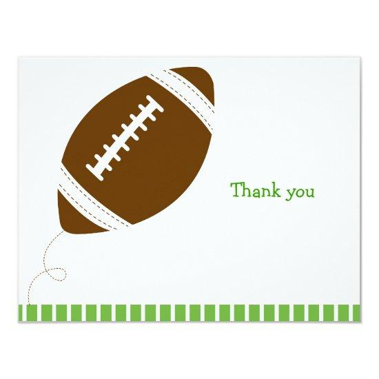 football all star flat thank you note invitation baby shower