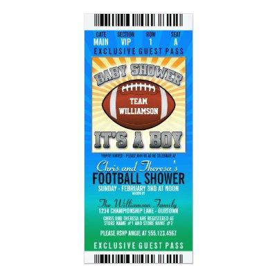 Football Party Baby Shower Invitation