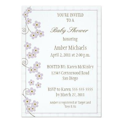 Forever Loved -lavender Invitations