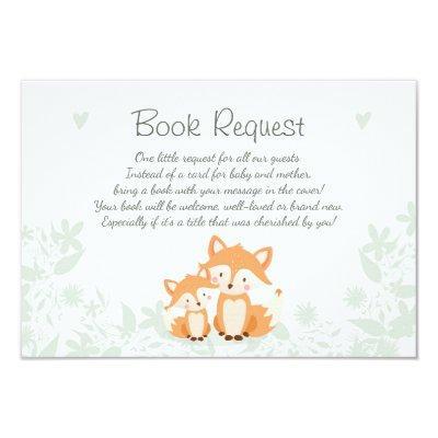 Fox Bring a book Invitations Woodland
