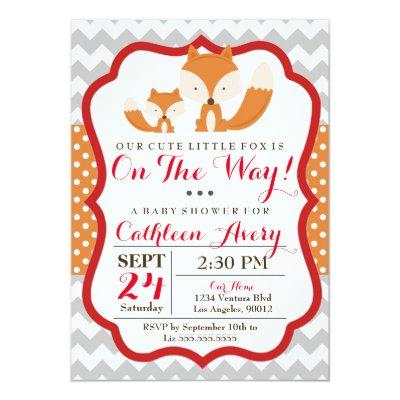 Fox Baby Shower Invitations