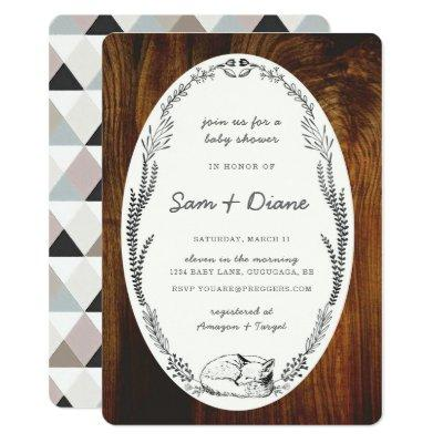Fox Laurel Baby Shower Invite