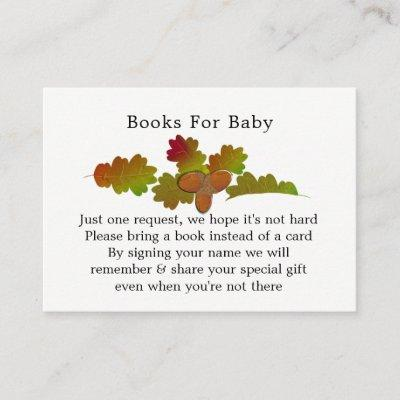 From Little Acorns Baby Shower Books for Baby Enclosure Invitations