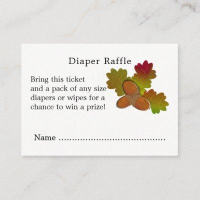 From Little Acorns Baby Shower Diaper Raffle Enclosure Card