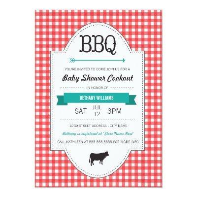 Fun BBQ Baby Shower Invite