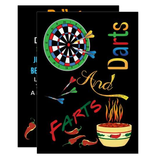Funny daddy to be shower darts and farts invitations baby shower funny daddy to be shower darts and farts invitations filmwisefo