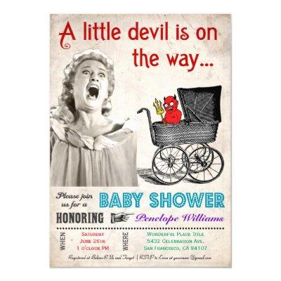 funny devil invitations