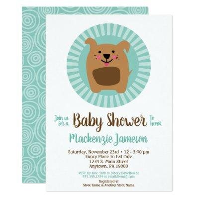 Funny Dog Puppy Neutral Baby Shower Invitation