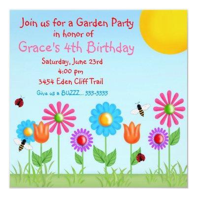 Garden Birthday Party Invitations Baby Shower Invitations – Garden Birthday Party Invitations
