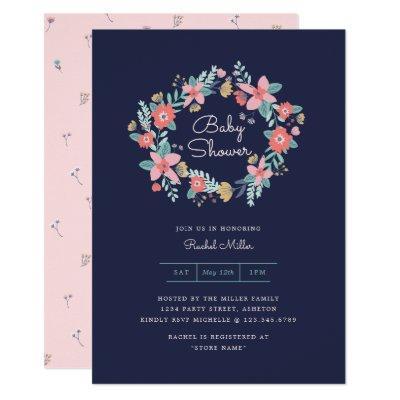 Garden Wreath Baby Shower Invite