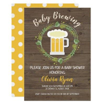 Gender Neutral Baby Brewing Baby Shower Invitations