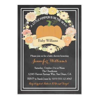 Gender Neutral Pumpkin Invitations