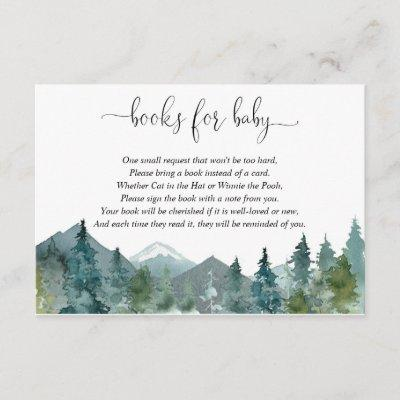 Gender neutral rustic forest book instead of card