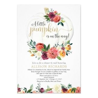 Gender neutral Shower by Mail fall baby shower Invitation