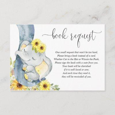 Gender neutral yellow elephant book instead card