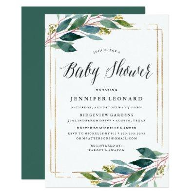 Gentle Foliage | Baby Shower Invitation