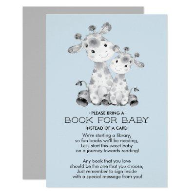 Giraffe Baby Shower Book for Baby Card