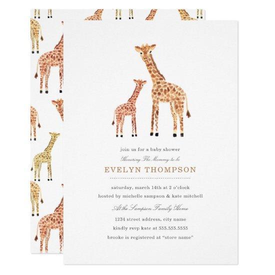 Giraffe Baby Shower Card
