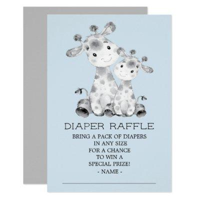 Giraffe Baby Shower Diaper Raffle Ticket Invitations